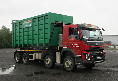 One of our hook container lorries