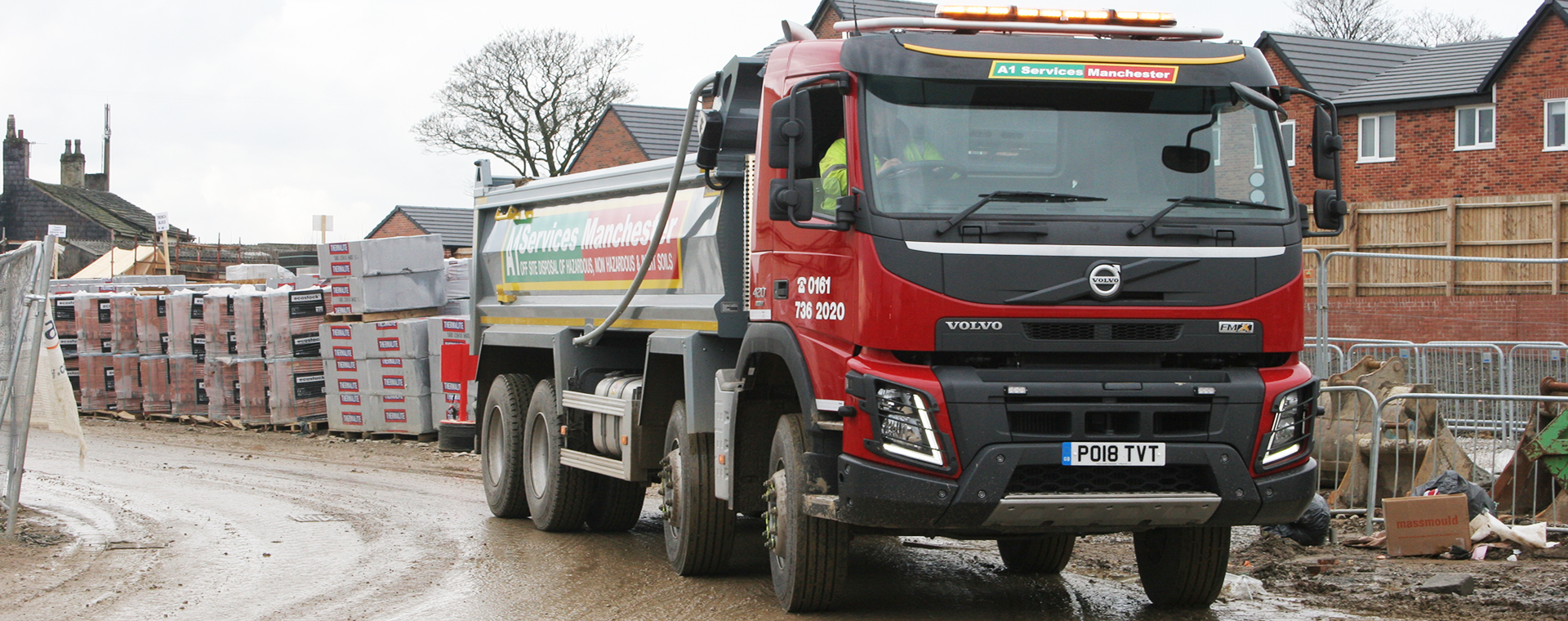 New tipper truck arriving on site