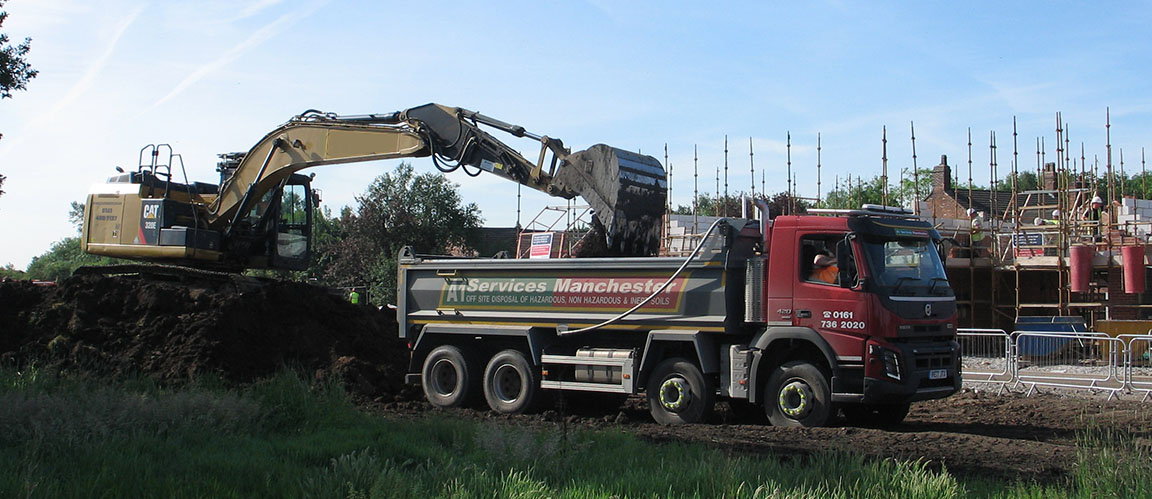 Tipper Truck on a building site